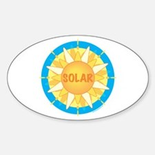 Solar Sun Sticker (Oval)