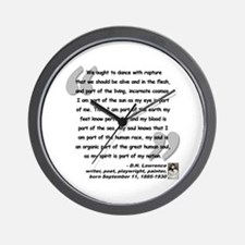 Lawrence Soul Quote Wall Clock