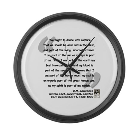 Lawrence Soul Quote Large Wall Clock