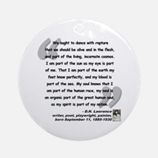 Lawrence Soul Quote Ornament (Round)