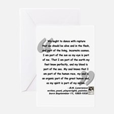Lawrence Soul Quote Greeting Card