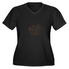 Unique Noah and the ark Women's Plus Size V-Neck Dark T-Shirt