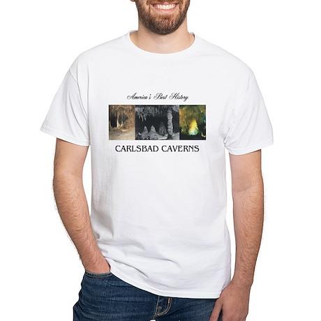Carlsbad Caverns Americasbesthistory White T-Shirt
