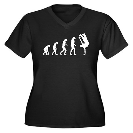 Evolution bboy Women's Plus Size V-Neck Dark T-Shi