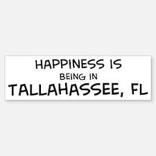 Happiness is Tallahassee Bumper Bumper Bumper Sticker