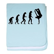 Evolution bboy baby blanket