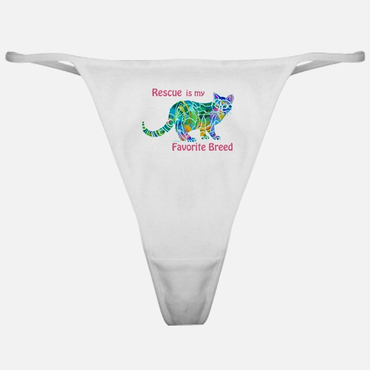 RESCUE is Favorite Breed CATS Classic Thong