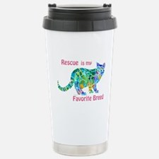RESCUE is Favorite Breed CATS Stainless Steel Trav