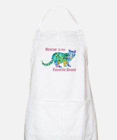 RESCUE is Favorite Breed CATS Apron