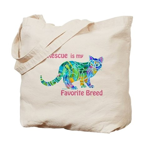 RESCUE is Favorite Breed CATS Tote Bag