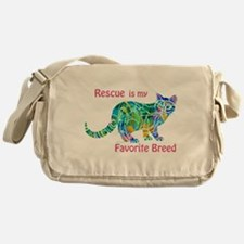 RESCUE is Favorite Breed CATS Messenger Bag