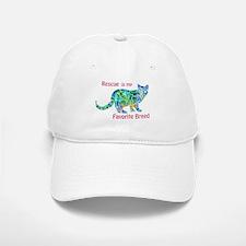 RESCUE is Favorite Breed CATS Baseball Baseball Cap