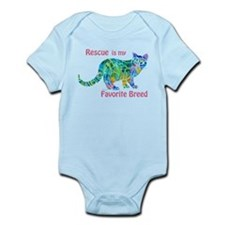 RESCUE is Favorite Breed CATS Infant Bodysuit