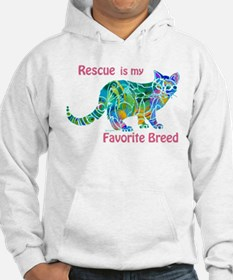 RESCUE is Favorite Breed CATS Hoodie