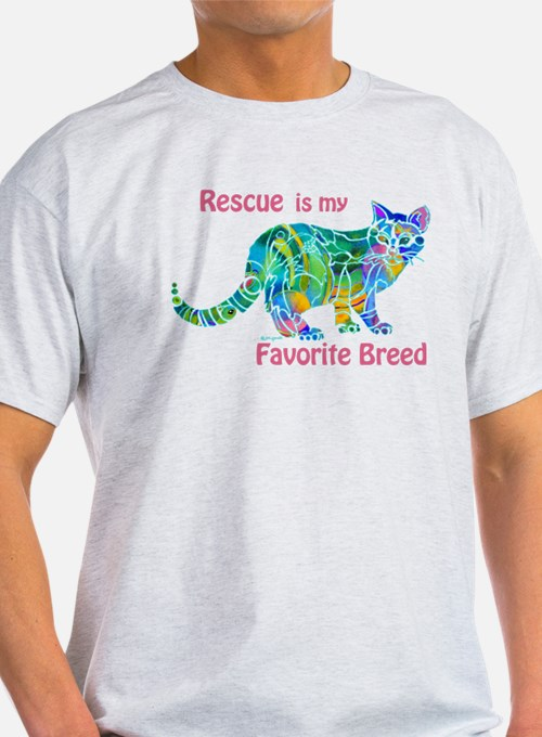 RESCUE is Favorite Breed CATS T-Shirt
