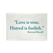 Love is wise Rectangle Magnet