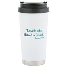 Love is wise Travel Mug