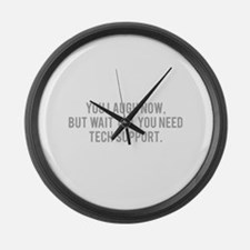 Tech Support Large Wall Clock