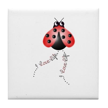 Ladybird Trails 1 Tile Coaster