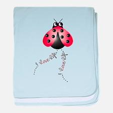 Ladybird Trails 1 baby blanket