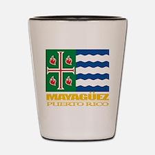 Mayaguez Flag Shot Glass