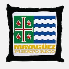 Mayaguez Flag Throw Pillow