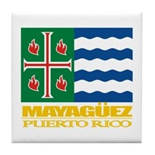 Mayaguez Flag Tile Coaster