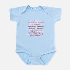 funny math joke Infant Bodysuit