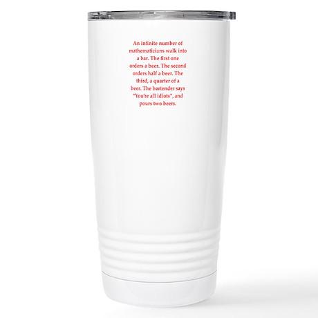 funny math joke Stainless Steel Travel Mug