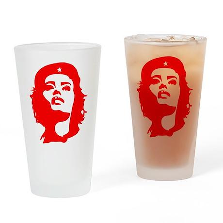 Revolutionary Woman Drinking Glass