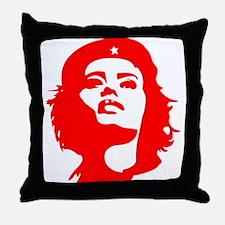 Revolutionary Woman Throw Pillow