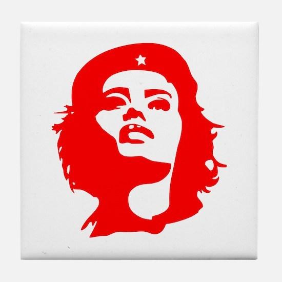 Revolutionary Woman Tile Coaster