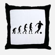 Evolution soocer Throw Pillow