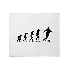 Evolution soocer Throw Blanket