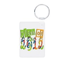 Colorful Class of 2012 Aluminum Keychain