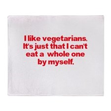 Anti Vegetarian Shirt Throw Blanket