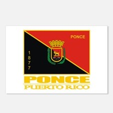 Ponce Flag Postcards (Package of 8)