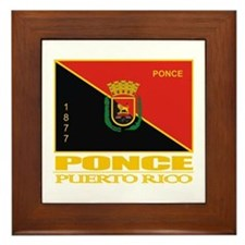 Ponce Flag Framed Tile