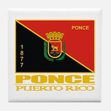 Ponce Flag Tile Coaster