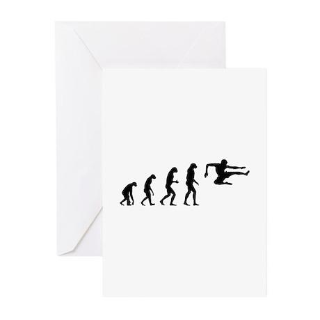 Evolution ninja Greeting Cards (Pk of 10)