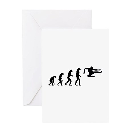 Evolution ninja Greeting Card