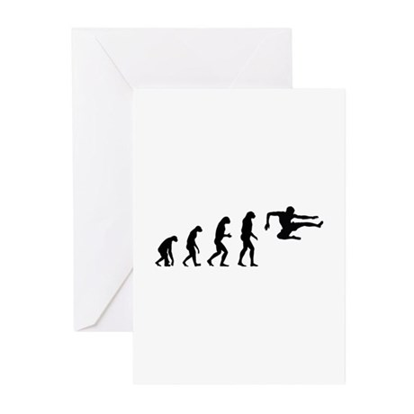 Evolution ninja Greeting Cards (Pk of 20)