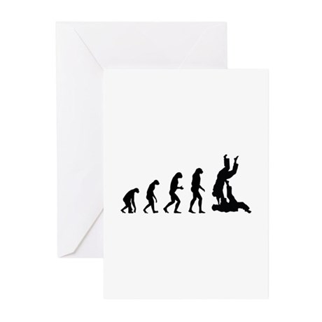Evolution karate Greeting Cards (Pk of 10)