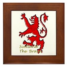 Scotland the Brave Framed Tile