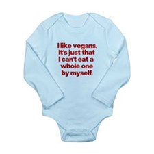 Anti Vegan Shirt Long Sleeve Infant Bodysuit