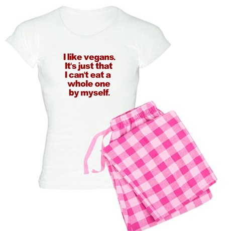 Anti Vegan Shirt Women's Light Pajamas