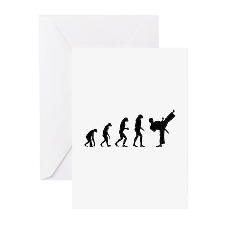 Evolution karate Greeting Cards (Pk of 20)