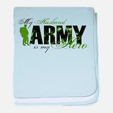 Husband Hero3 - ARMY baby blanket