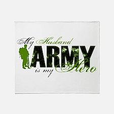 Husband Hero3 - ARMY Throw Blanket
