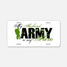 Husband Hero3 - ARMY Aluminum License Plate